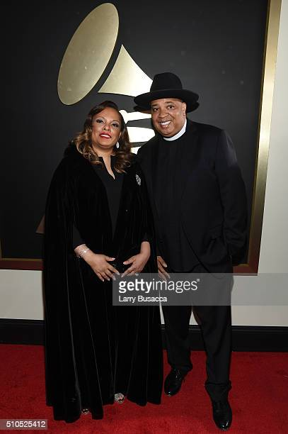 TV personality Joseph Reverend Run Simmons and Justine Simmons attend The 58th GRAMMY Awards at Staples Center on February 15 2016 in Los Angeles...