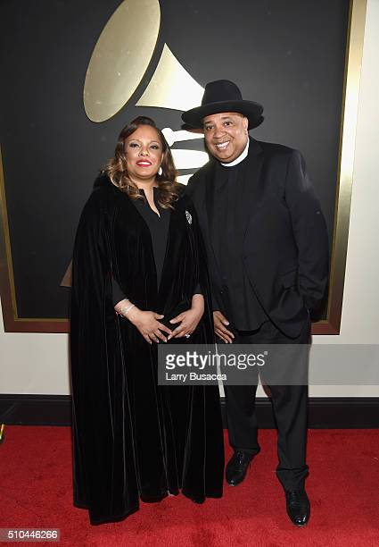 TV personality Joseph 'Reverend Run' Simmons and Justine Simmons attends The 58th GRAMMY Awards at Staples Center on February 15 2016 in Los Angeles...