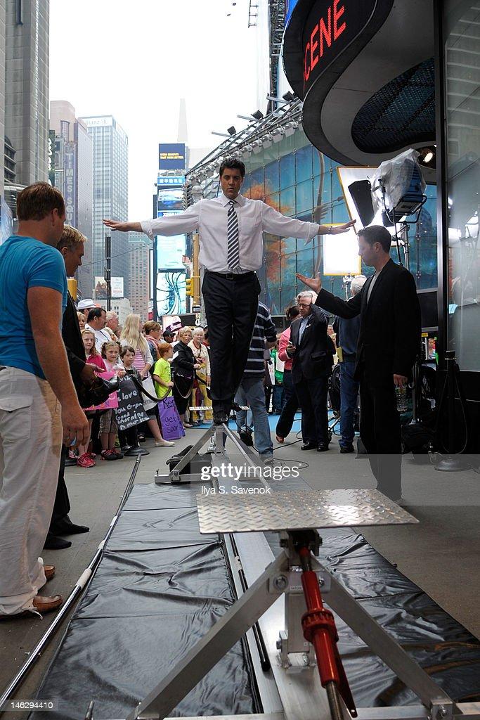 TV personality Josh Elliott walks a tightrope in Times