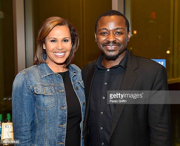 TV personality Jovita Moore and Robert Battle attend the Alvin Ailey American Dance Theater Reception A Night with Artistic Director Robert Battle at...