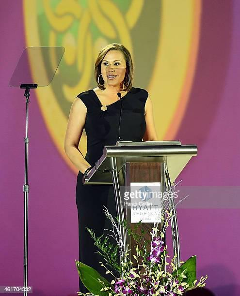 TV personality Jovita Moore onstage at Salute To Greatness Awards Dinner at The Hyatt Regency Atlanta on January 17 2015 in Atlanta Georgia