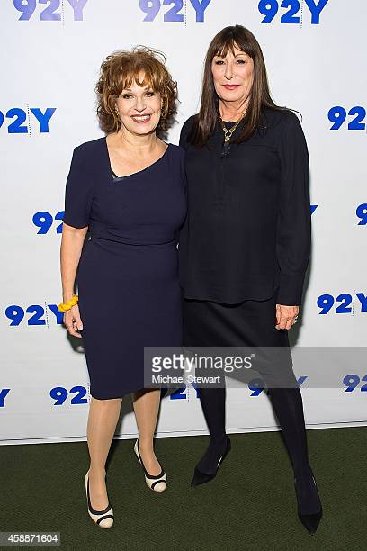 TV personality Joy Behar and actress Anjelica Huston attend 92nd Street Y Presents An Evening with Anjelica Huston at 92nd Street Y on November 12...