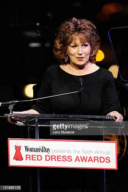 TV personality Joy Behar speaks onstage during the 6th Annual Woman's Day Red Dress Awards at the Allen Room in Frederick P Rose Hall Jazz at Lincoln...