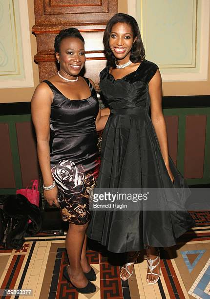TV personality JoyAnn Reid and Keli Goff attend the Inaugural Ball hosted by BET Networks at Smithsonian American Art Museum National Portrait...