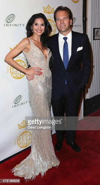 TV personality Joyce Giraud and husband Infinity Media CEO Michael Ohoven attend the Queen of the Universe International Beauty Pageant at the Saban...