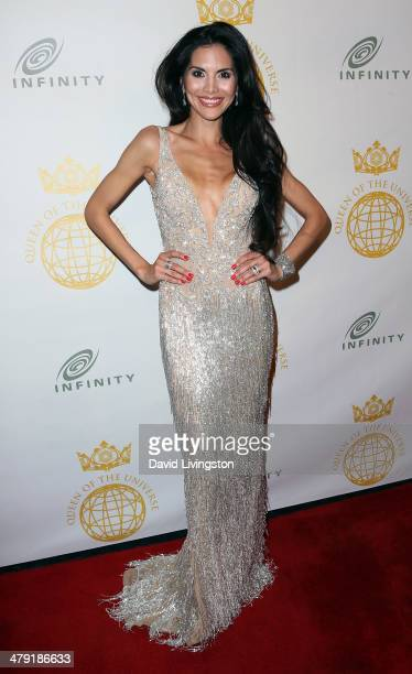 TV personality Joyce Giraud attends the Queen of the Universe International Beauty Pageant at the Saban Theatre on March 16 2014 in Beverly Hills...