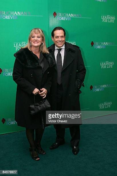 TV personality Juan Jose Origel and guest attend the Buchanan's Forever Night Education Benefit Concert at Colegio de las Vizcainas on January 31...