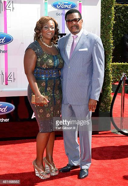 TV personality Judge Greg Mathis and Linda Reese attend the BET AWARDS '14 at Nokia Theatre LA LIVE on June 29 2014 in Los Angeles California