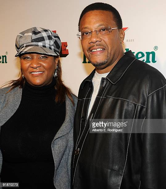 TV personality Judge Mathis and wife Linda Reese arrives at the Los Angeles premiere of Black Dynamite on October 13 2009 in Hollywood California