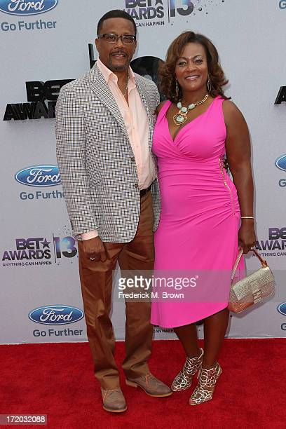 Personality Judge Mathis and wife Linda Reese attend the 2013 BET Awards at Nokia Theatre LA Live on June 30 2013 in Los Angeles California