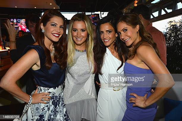 TV Personality Julia Allison executive producer Ashley Tisdale and TV personalities Emily Morse and Amy Laurent attend the season premiere viewing...