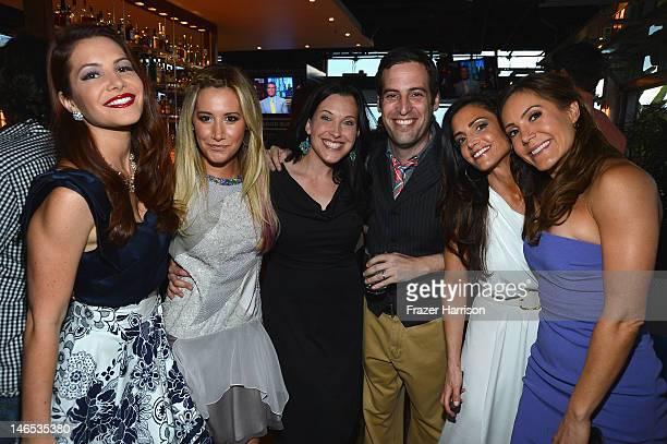 TV Personality Julia Allison executive producer Ashley Tisdale producers Jessica Rhoades and Tom Forman and TV personalities Emily Morse and Amy...