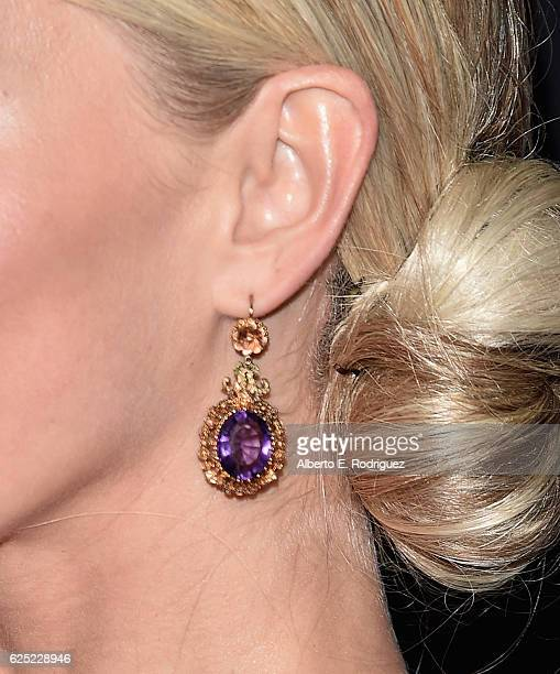 TV personality Julianne Hough earing detail attends ABC's 'Dancing With The Stars' Season 23 Finale at The Grove on November 22 2016 in Los Angeles...