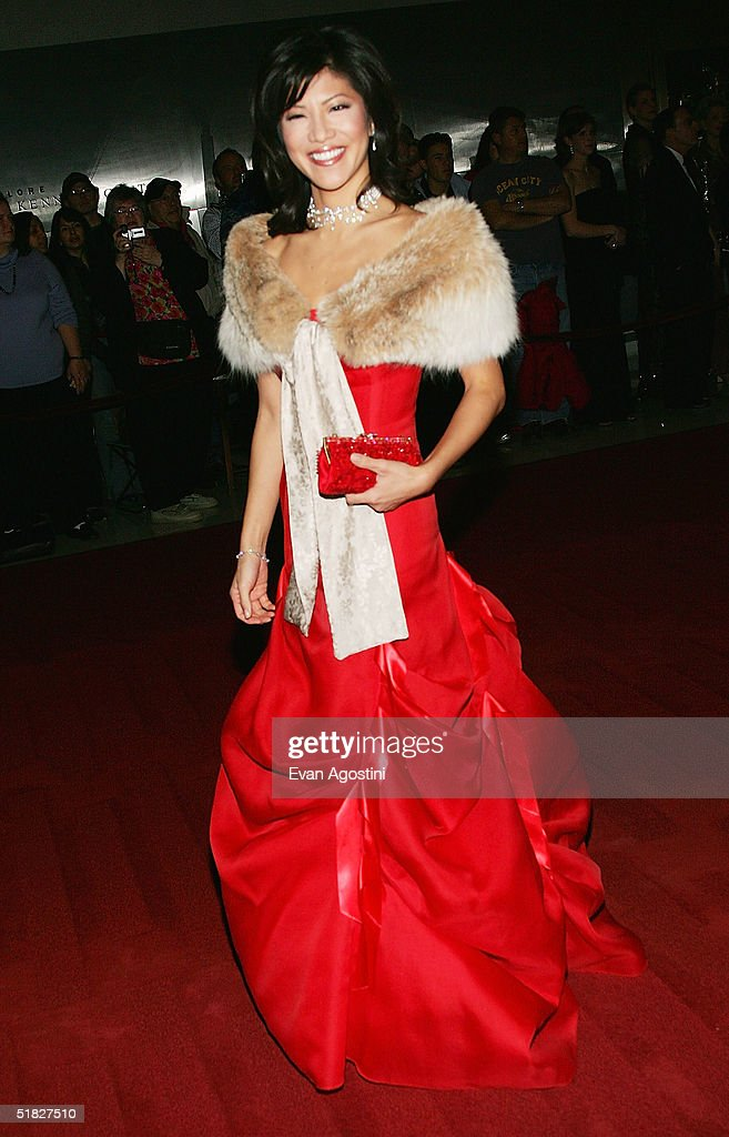 TV personality Julie Chen arrives at the 27th Annual Kennedy Center Honors Gala at The Kennedy Center for the Performing Arts December 5, 2004 in Washington, DC.