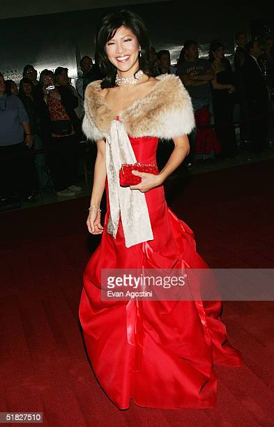 TV personality Julie Chen arrives at the 27th Annual Kennedy Center Honors Gala at The Kennedy Center for the Performing Arts December 5 2004 in...