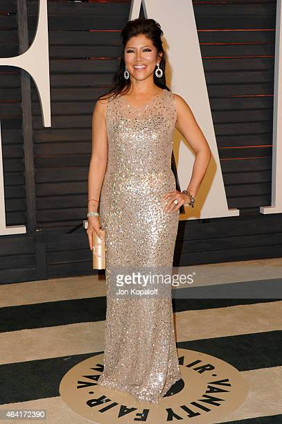 Personality Julie Chen attend the 2015 Vanity Fair Oscar Party hosted by Graydon Carter at Wallis Annenberg Center for the Performing Arts on...