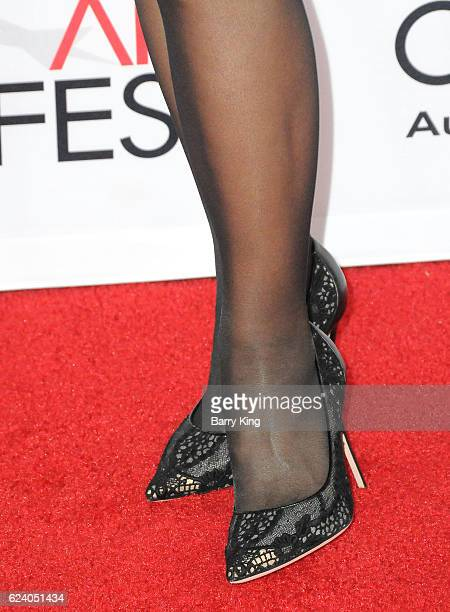 Personality Julie Chen shoe detail attends the Closing Night Gala and screening of Lionsgate's 'Patriot's Day' during AFI FEST 2016 Presented By Audi...