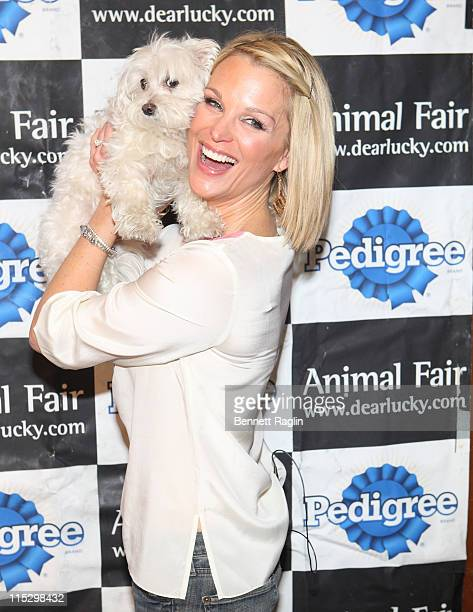 TV personality Juliet Huddy attends Animal Fair Magazine's 3rd annual toys for dogs holiday PSA party at Cibar on December 4 2008 in New York City