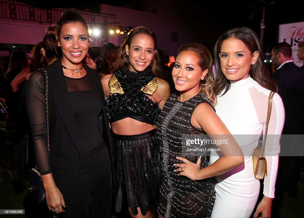 TV personality Julissa Bermudez, actress Dania Ramirez and TV personalities Adrienne Bailon and Rocsi Diaz attend the Latina 'Hot List' Party hosted by Latina Media Ventures at The London West Hollywood on October 6, 2015 in West Hollywood, California.