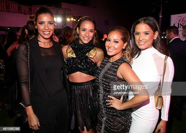 TV personality Julissa Bermudez actress Dania Ramirez and TV personalities Adrienne Bailon and Rocsi Diaz attend the Latina 'Hot List' Party hosted...