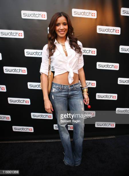 TV personality Julissa Bermudez attends the CreArt by Swatch launch party at a private location on July 15 2009 in New York City