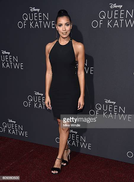 TV personality Julissa Bermudez attends the premiere of Disney's Queen Of Katwe at the El Capitan Theatre on September 20 2016 in Hollywood California