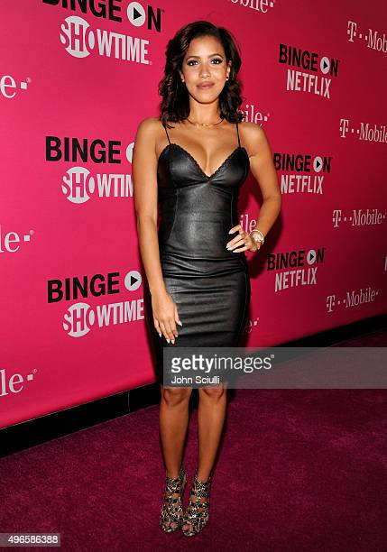 TV personality Julissa Bermudez attends TMobile Uncarrier X Launch Celebration at The Shrine Auditorium on November 10 2015 in Los Angeles California