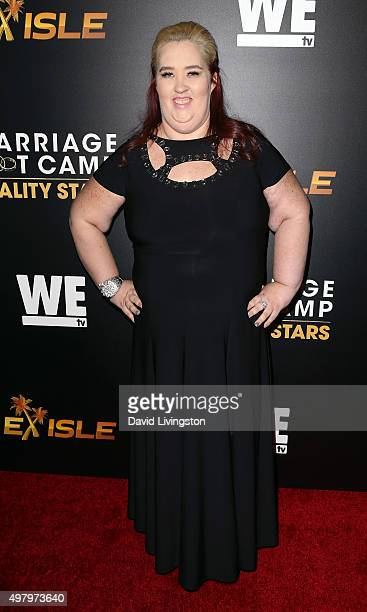 TV personality June 'Mama June' Shannon attends We tv's celebration of the premieres of 'Marriage Boot Camp Reality Stars' and 'Exisled' at Le Jardin...