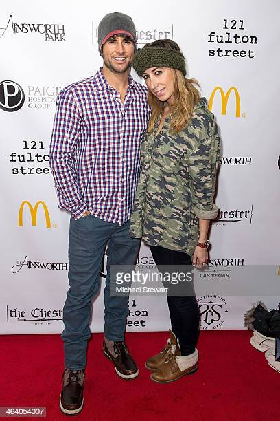 TV personality Justin Bird and stylist Lauren Rae Levy attend Paige Hospitality Group's Third Annual Sundance Football Game Watch on January 19 2014...