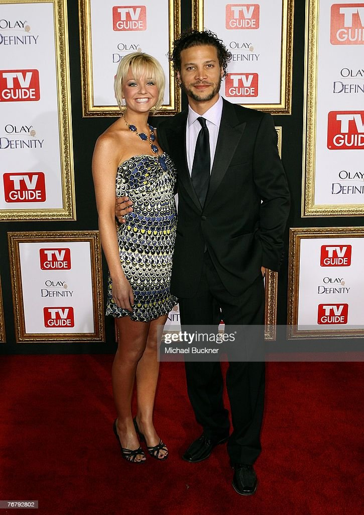 TV personality Justin Guarini (R) and Holly Durst arrives at TV Guide's 5th Annual Emmy Party September 16, 2007 in Los Angeles.