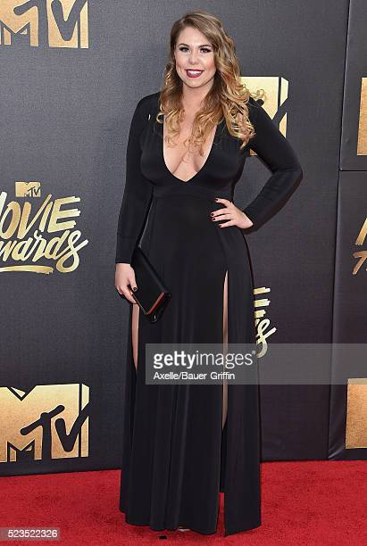 TV personality Kailyn Lowry arrives at the 2016 MTV Movie Awards at Warner Bros Studios on April 9 2016 in Burbank California