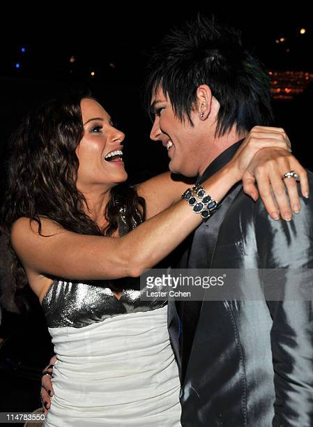 TV personality Kara DioGuardi and singer Adam Lambert during the 52nd Annual GRAMMY Awards Salute To Icons Honoring Doug Morris held at The Beverly...