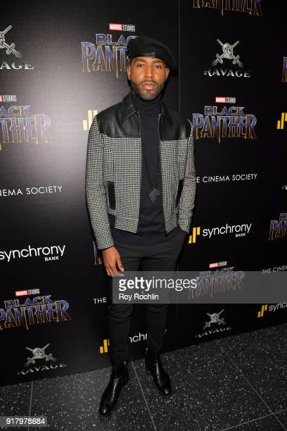 TV personality Karamo Brown attends the screening of Marvel Studios' 'Black Panther' hosted by The Cinema Society on February 13 2018 in New York City