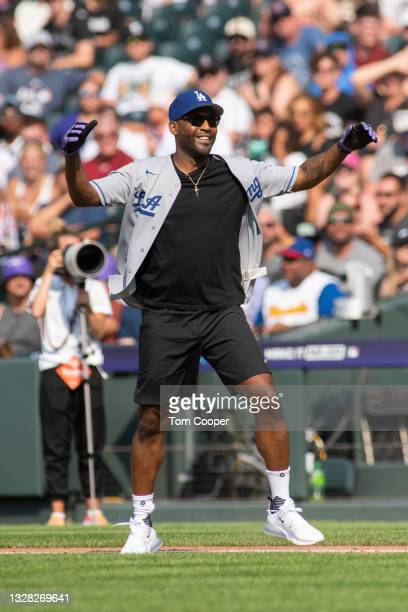 Personality Karamo Brown during the MLB All-Star Celebrity Softball Game at Coors Field on July 11, 2021 in Denver, Colorado.