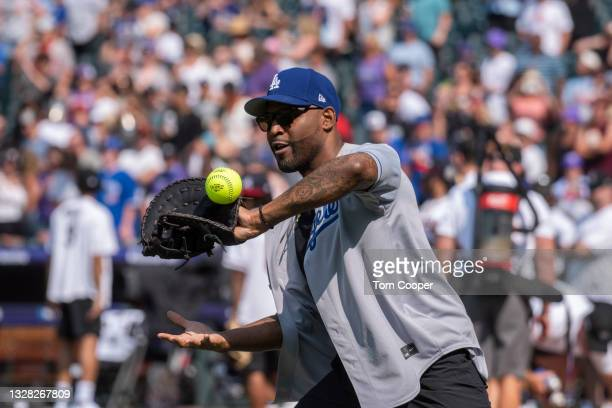 Personality Karamo Brown TV host for Queer Eye during the MLB All-Star Celebrity Softball Game at Coors Field on July 11, 2021 in Denver, Colorado.