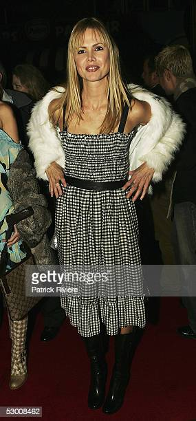 TV personality Karen Fisher attends the opening night of Carlotta's Kings Cross at the Big Top at Luna Park on June 01 2005 in Sydney Australia