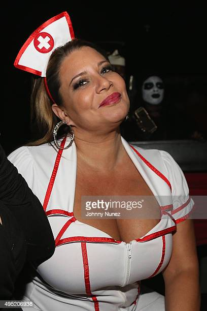 """TV personality Karen Gravano at Sean """"Diddy"""" Combs aka Puff Daddy Celebrates CIROC® Apple Infused Vodka Launch during Emperor's Ball at Marquee New..."""