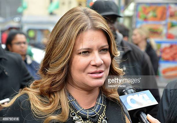 TV personality Karen Gravano of Mob Wives visits the Mob Wives Meatball Truck at Times Square on December 1 2014 in New York City
