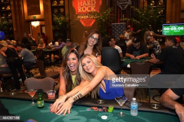 Personality Karent Sierra and Joanna Krupa attend the Hollywood Charity Series Of Poker Supported By PokerStars To Benefit Habitat For Humanity at...