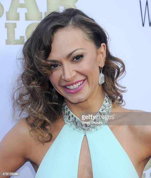 TV personality Karina Smirnoff arrives at the Los Angeles premiere of Escobar Paradise Lost at ArcLight Hollywood on June 22 2015 in Hollywood...