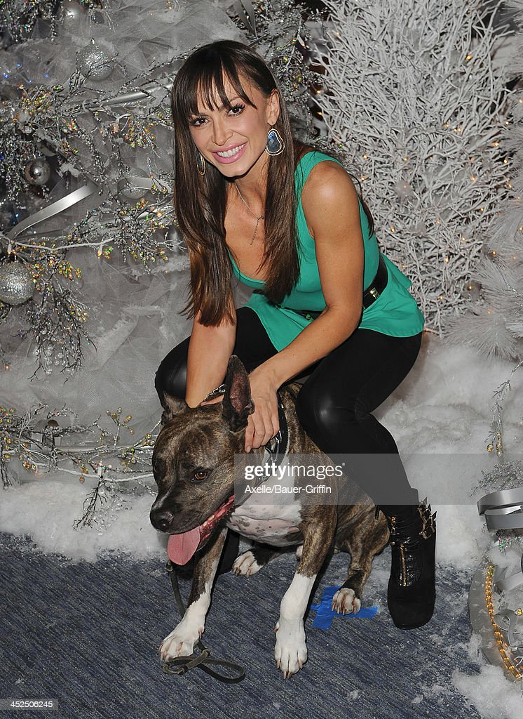 TV personality Karina Smirnoff attends The Beverly Center Kicks Off 'Holiday Pet Portraits With Santa!' at The Beverly Center on November 14, 2013 in Los Angeles, California.