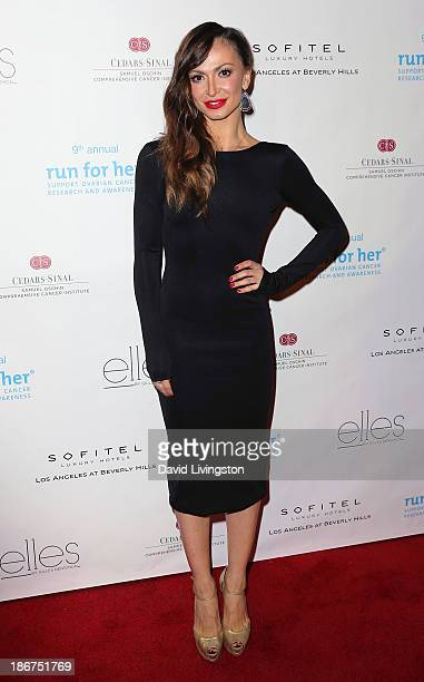 TV personality Karina Smirnoff attends the Run for Her fundraiser benefiting CedarsSinai's Samuel Oschin Comprehensive Cancer Institute at Sofitel...