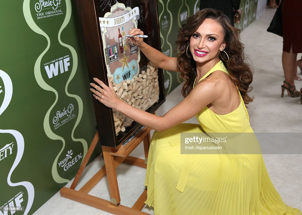 TV personality Karina Smirnoff attends Variety & Women In Film Pre-Emmy Event presented by Yoplait Greek at Scarpetta on September 20, 2013 in Beverly Hills, California.