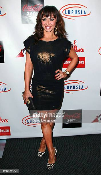 TV personality Karina Smiroff attends the 3rd annual Get Lucky for Lupus LA event at Peterson Automotive Museum on September 22 2011 in Los Angeles...