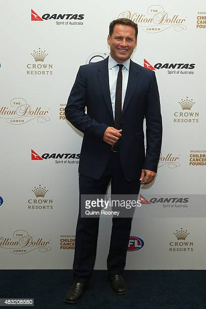 TV personality Karl Stefanovic arrives ahead of the Children's Cancer Foundation's annual fundraiser the Million Dollar Lunch at Crown Palladium on...