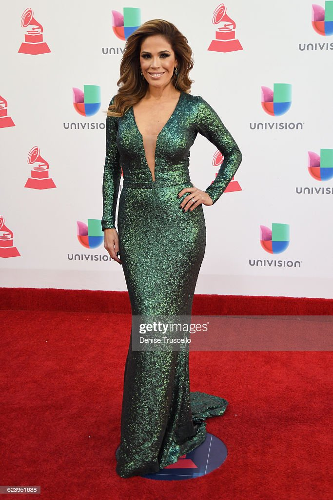 TV personality Karla Martínez attends The 17th Annual Latin Grammy Awards at T-Mobile Arena on November 17, 2016 in Las Vegas, Nevada.