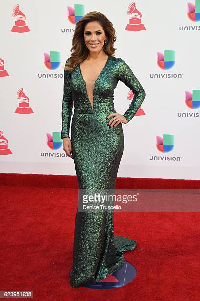 TV personality Karla Martínez attends The 17th Annual Latin Grammy Awards at TMobile Arena on November 17 2016 in Las Vegas Nevada