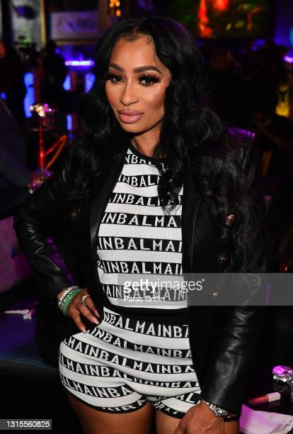 """Personality Karlie Redd attends Spice's """"Go Down Deh"""" Single Release Party at Cosmopolitan Premier Lounge on April 30, 2021 in Atlanta, Georgia."""