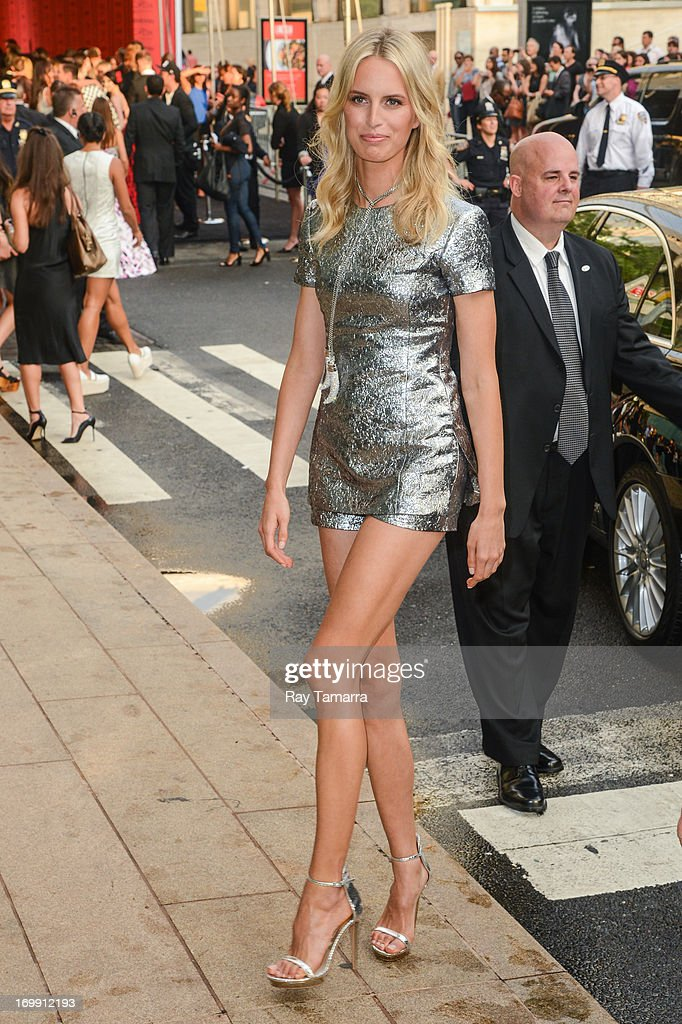 TV personality Karolina Kurkova enters the 2013 CFDA Fashion Awards on June 3, 2013 in New York, United States.