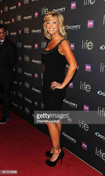 TV personality Kate Gosselin attends the premiere of Discovery Channel's Life at Alice Tully Hall Lincoln Center on March 4 2010 in New York City